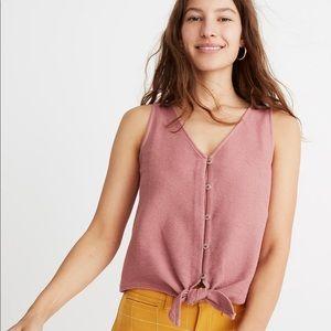NWT Texture & Thread Button Front Tie Shirt